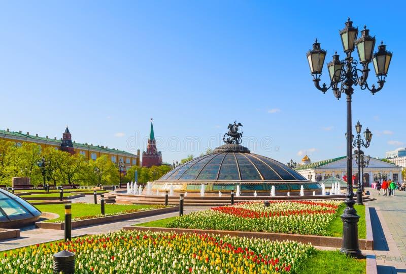 Sorgente a Mosca fotografie stock libere da diritti