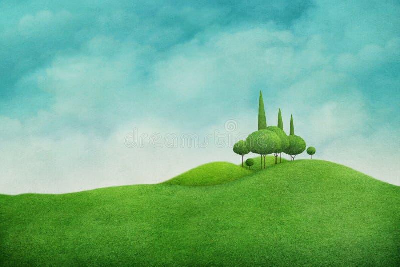 sorgente verde di paesaggio royalty illustrazione gratis