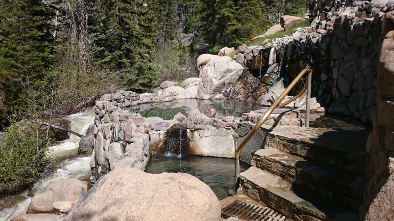 Sorgenti di acqua calda immagini stock libere da diritti