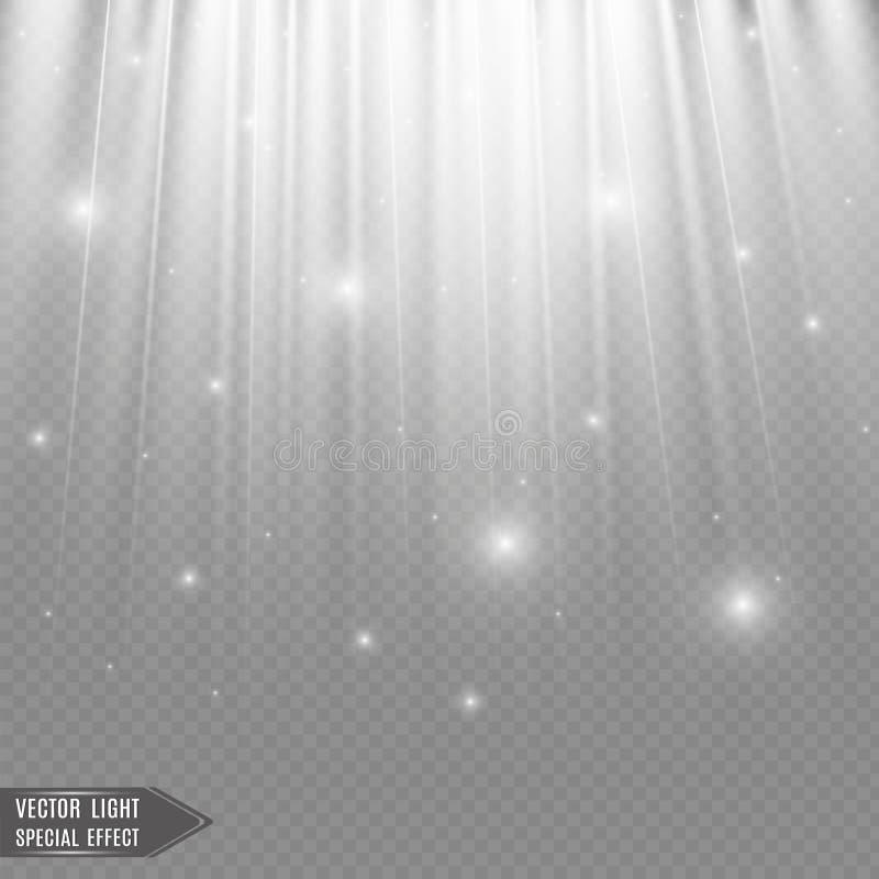 Sorgenti luminose, illuminazione di concerto, riflettori Riflettore di concerto con il fascio, riflettori illuminati royalty illustrazione gratis