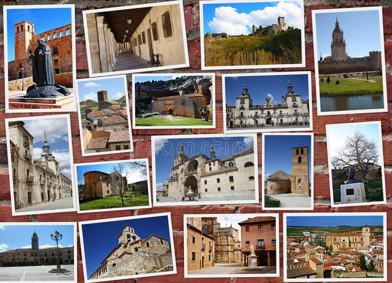 Soria i Spanien arkivbilder