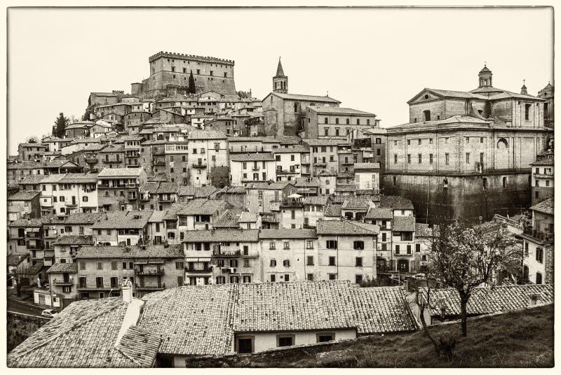 Soriano nel Cimino in black and white royalty free stock photo