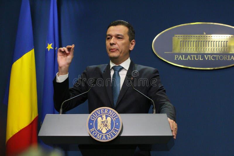 Sorin Grindeanu bez ministrów polityka - Rumuński rząd - obraz stock