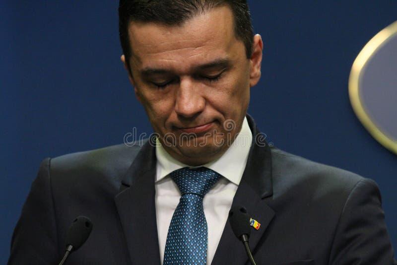 Sorin Grindeanu sans ministres - gouvernement roumain - la politique photos libres de droits