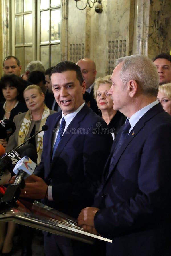 Sorin Mihai Grindeanu - proposition pour le premier ministre de romain photo stock