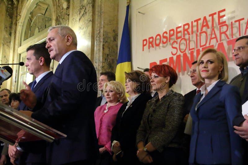 Sorin Mihai Grindeanu - proposition pour le premier ministre de romain photo libre de droits
