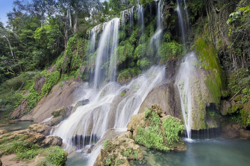 Soroa waterfall, Pinar del Rio, Cuba royalty free stock photos