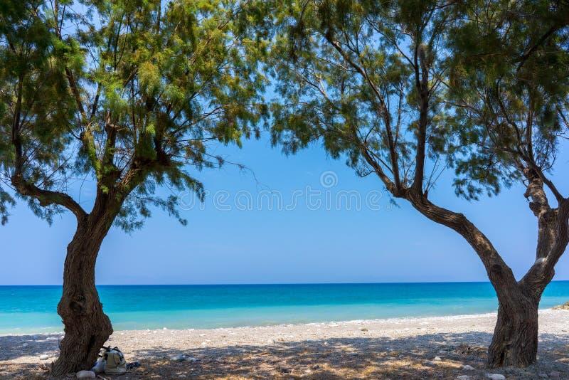 Soroni strand Rhodes fotografering för bildbyråer