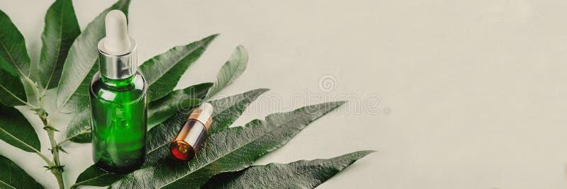 Soros naturais O conceito da injeção cosmética é ácido hialurónico, botulin, soro foto de stock royalty free