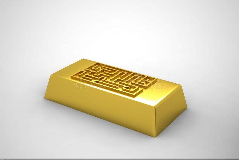 Sorprenda y oro stock de ilustración