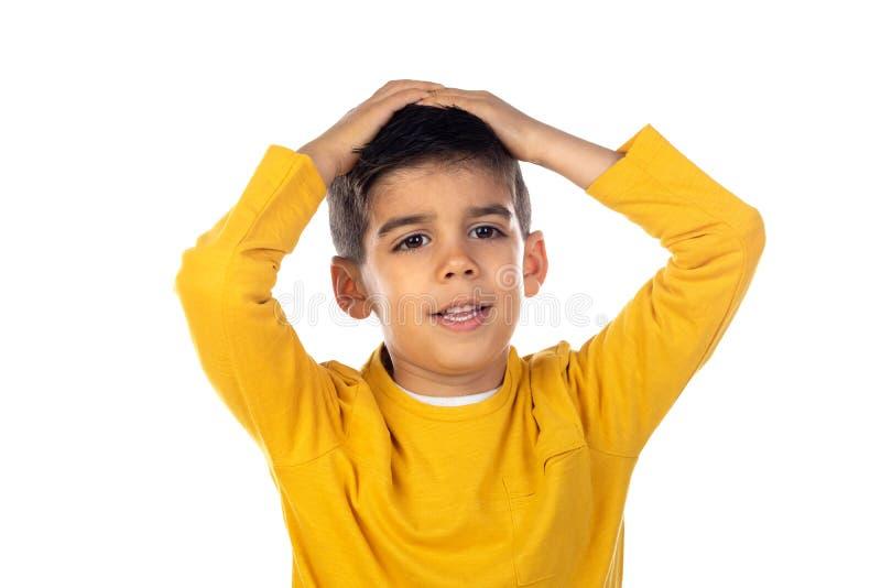 Sorprendido niño gipsy fotos de archivo