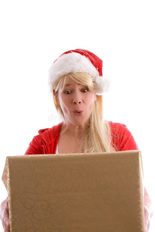 Sorpresa de la feliz Navidad fotos de archivo libres de regalías