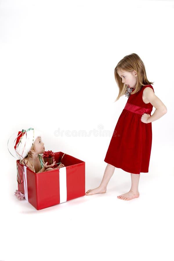 Sorpresa de la Navidad - serie imagen de archivo