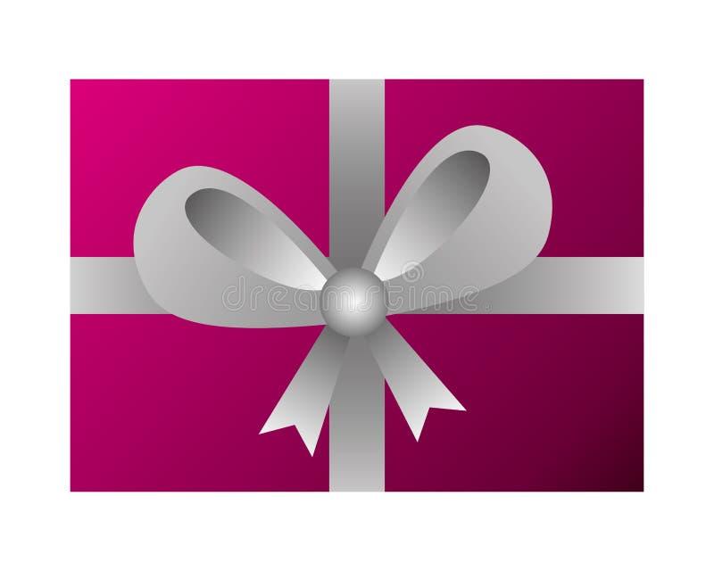 Sorpresa del contenitore di regalo dell'involucro su fondo bianco illustrazione vettoriale