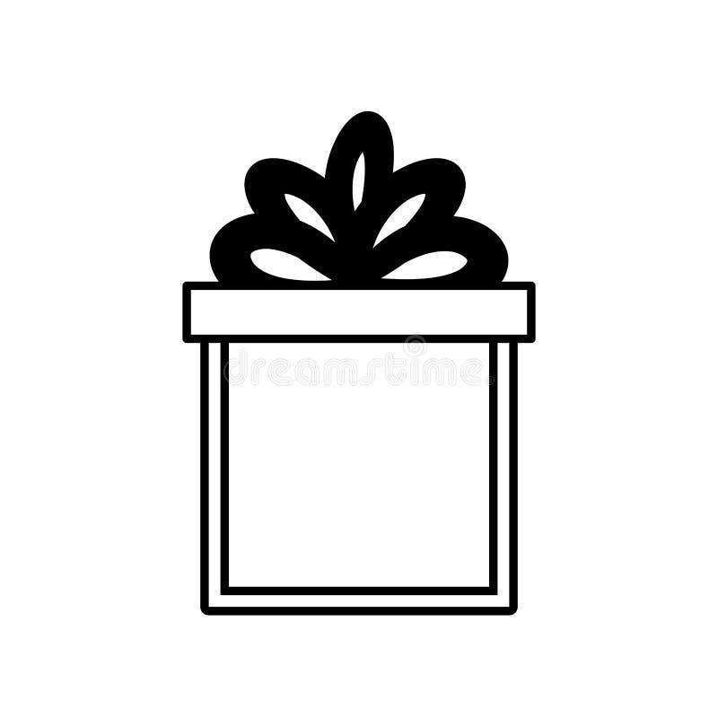 sorpresa envuelta cinta de la caja de regalo linear libre illustration