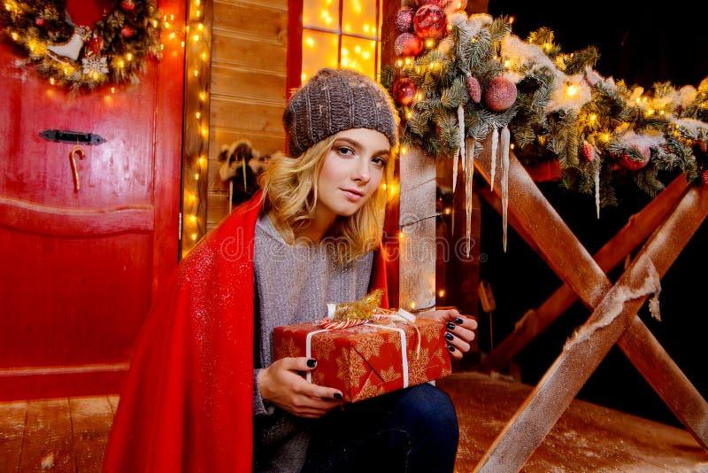 Sorpresa maravillosa de la Navidad fotografía de archivo
