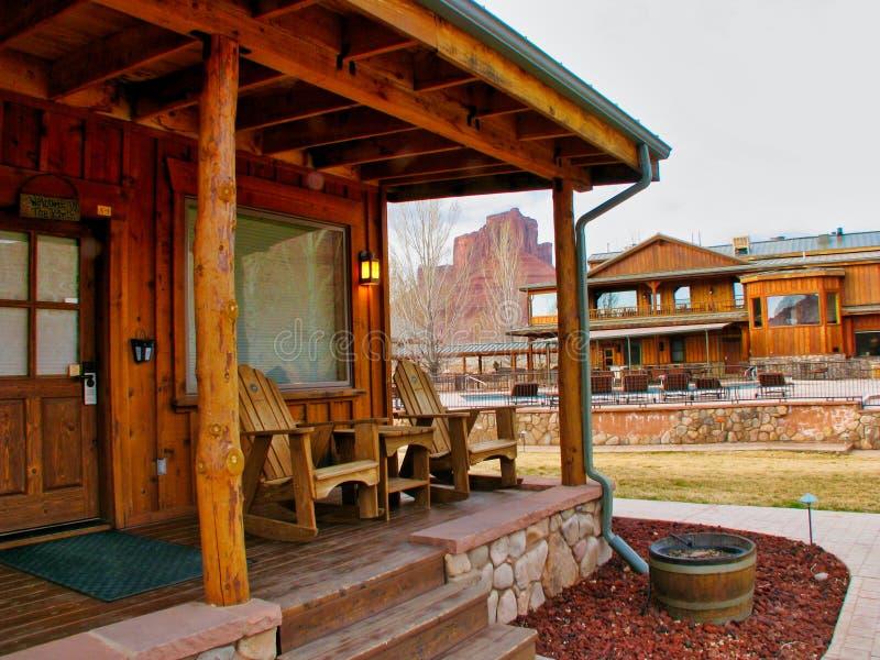 Sorrel River Ranch Casita och restaurang royaltyfri foto