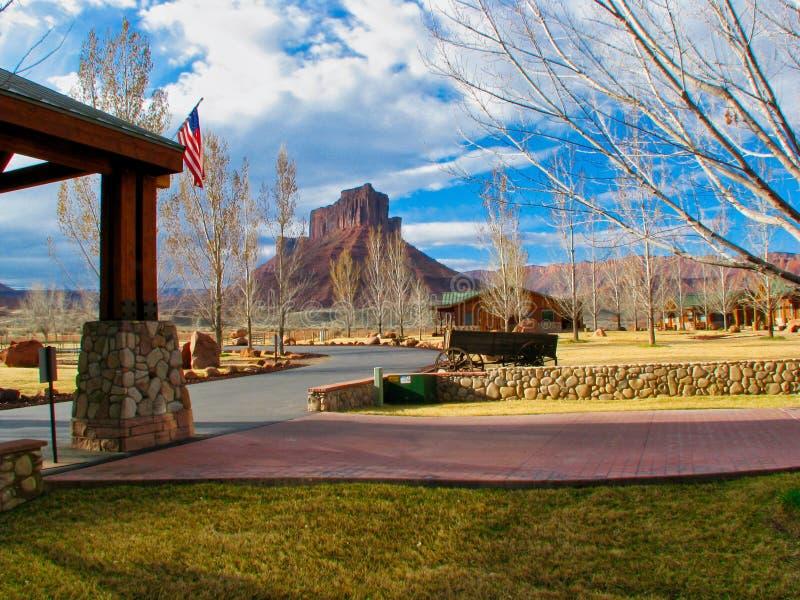 Sorrel River Ranch Resort i östliga Utah royaltyfri bild