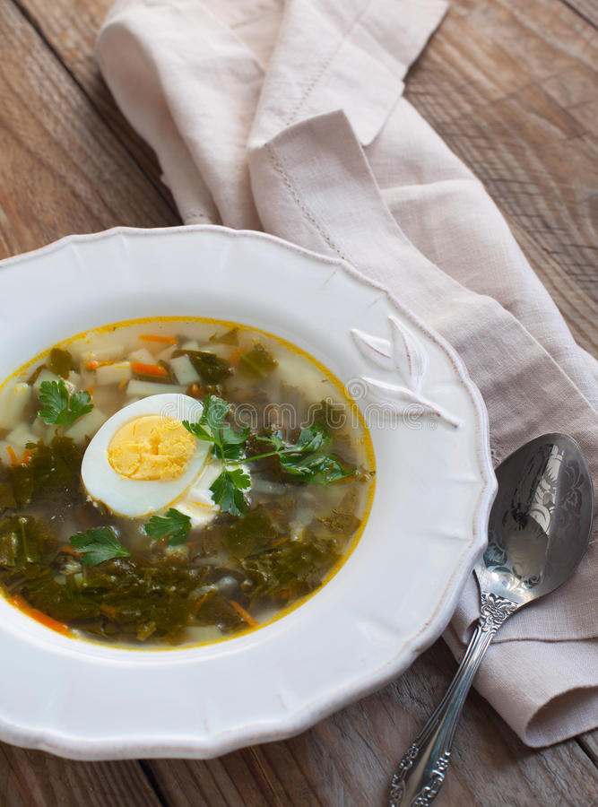 Sorrel soup royalty free stock photography