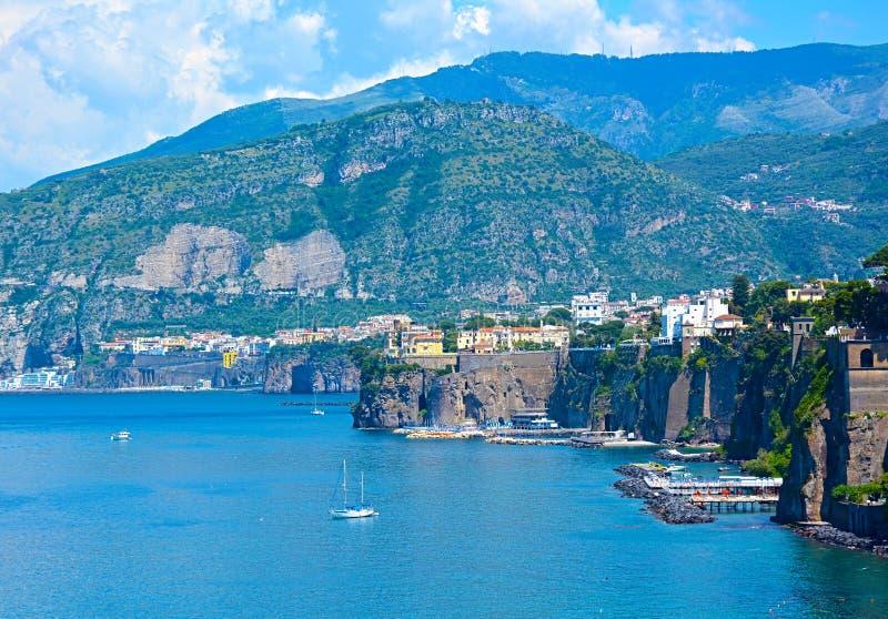 Sorrent-Küste, südlich von Italien lizenzfreie stockfotos