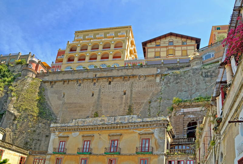 Sorrento. Historic buildings in Sorrento,near Naples stock photos
