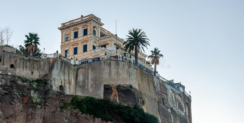 Sorrento, Amalfi Coast, Italy. Sorrento, on the famous Amalfi Coast, in the Gulf of Naples and close to Amalfi, Positano and Pompeii. View of the cliff royalty free stock images