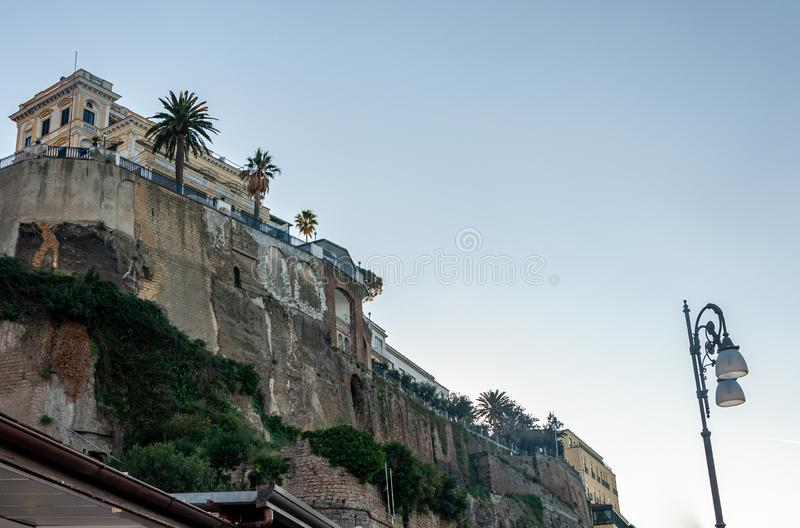 Sorrento, Amalfi Coast, Italy. Sorrento, on the famous Amalfi Coast, in the Gulf of Naples and close to Amalfi, Positano and Pompeii. View of the cliff stock photography