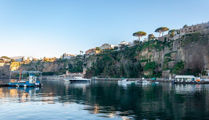 Sorrento, Amalfi Coast, Italy. Sorrento, seaside resort on the famous Amalfi Coast, in the Gulf of Naples and close to Amalfi, Positano and Pompeii. View of the stock images