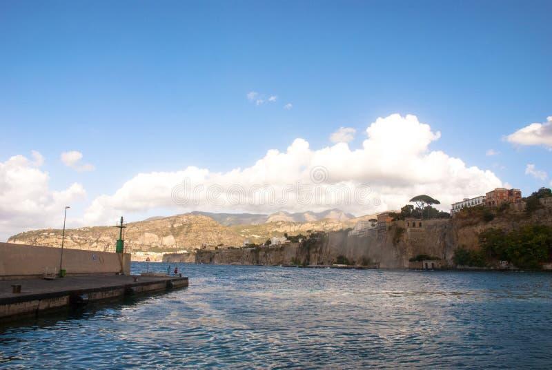Sorrento Bay, Naples, Italy royalty free stock image