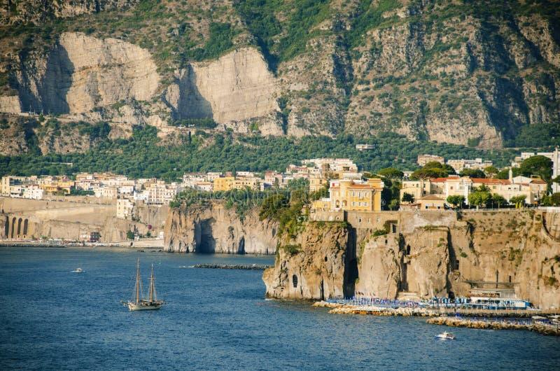 Sorrento coast. Italian coast at sorrento, italy royalty free stock photo