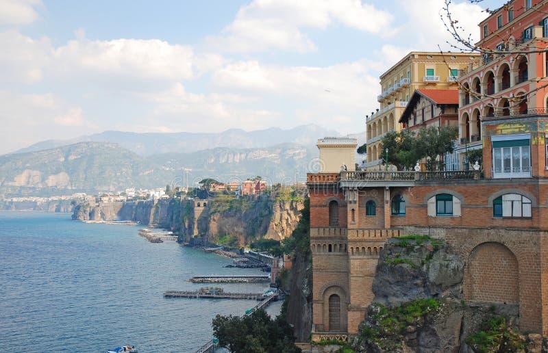 Sorrento, Italy. Beautiful view on Sorrento coast, Italy royalty free stock photo
