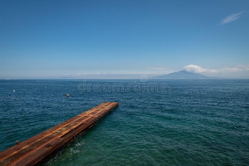 Sorrento italy in der Bucht der Nacken stockfotografie