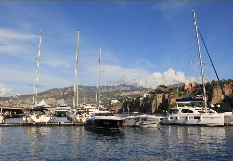 Sorrento Marina. In Sorrento, Italy royalty free stock photo