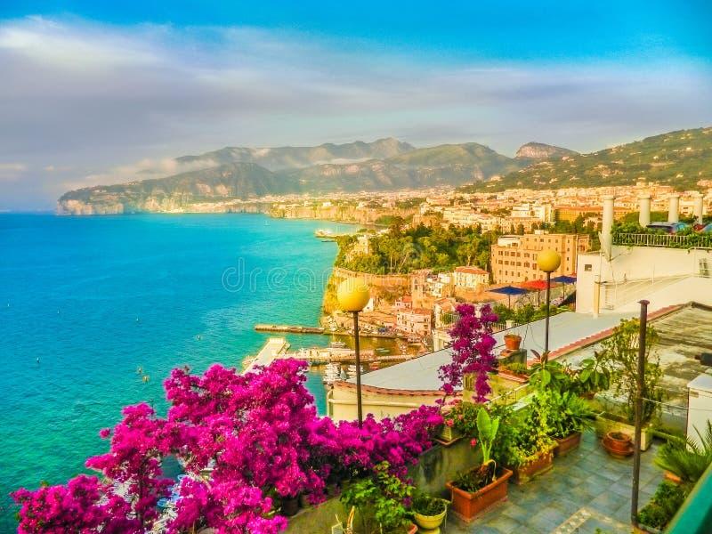 Sorrento miasta, Amalfi wybrzeże, Włochy fotografia royalty free