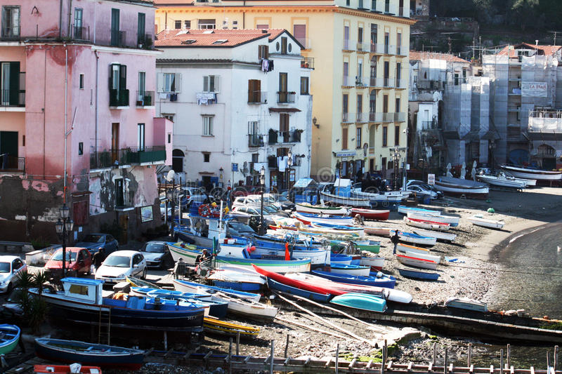 Download Sorrento old port editorial photography. Image of fishermen - 24510442