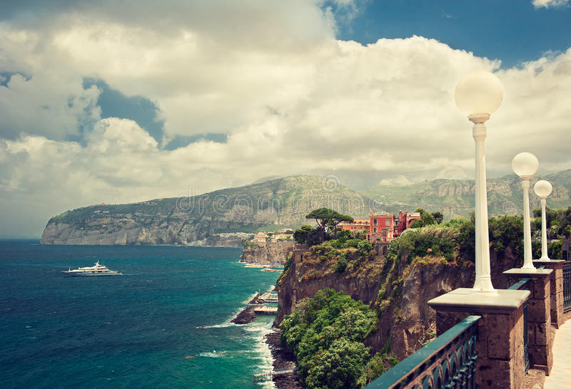 Sorrento. Place , Italy,cliff and beach royalty free stock photography