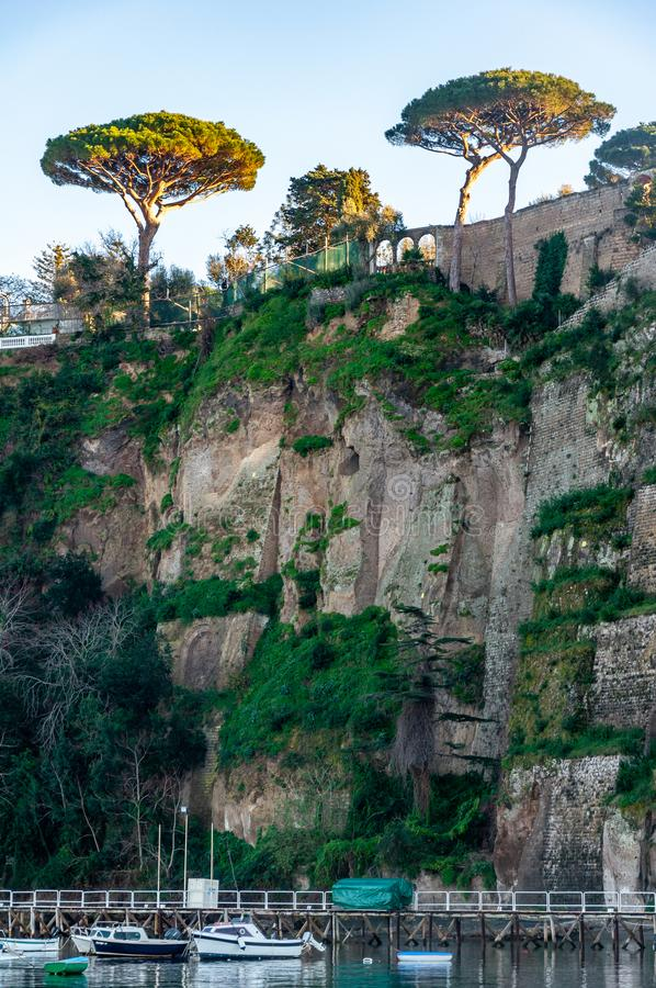 Sorrento, Amalfi Coast, Italy. Sorrento, seaside resort on the famous Amalfi Coast, in the Gulf of Naples and close to Amalfi, Positano and Pompeii. View of the royalty free stock images