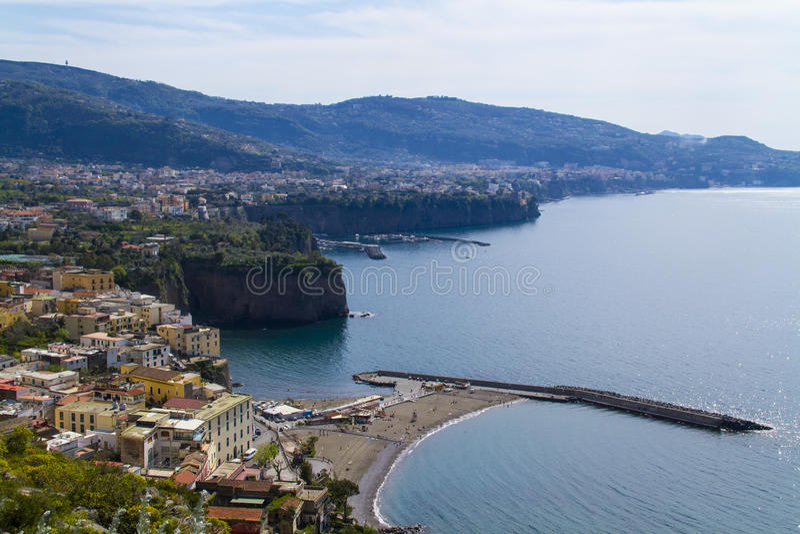 Sorrento. View of sorrento amalfi coast - italy royalty free stock photos
