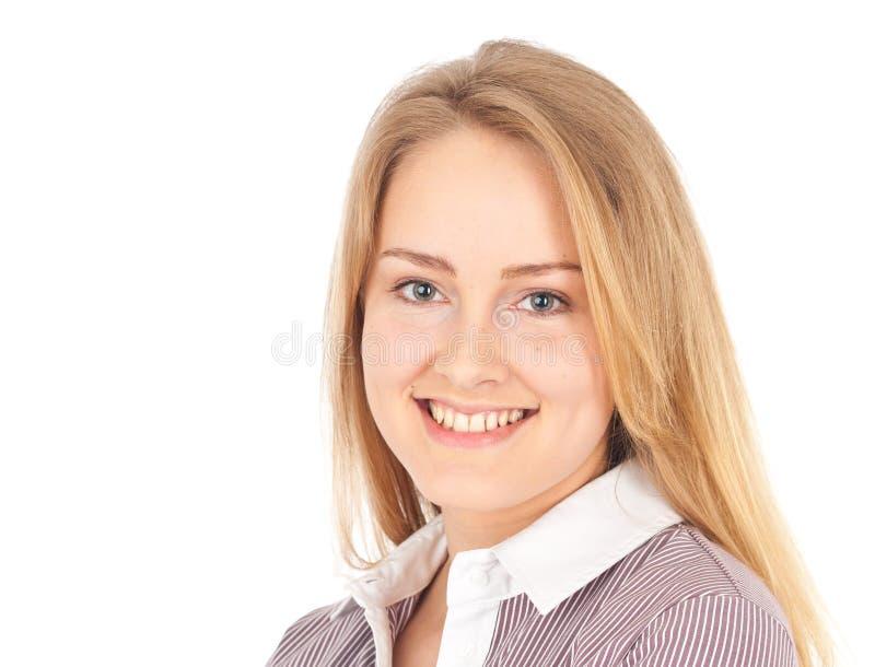 Sorridere attraente della donna di affari fotografia stock
