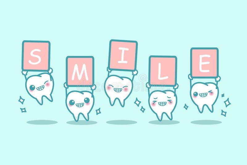 Sorridere bianco del dente del fumetto illustrazione vettoriale