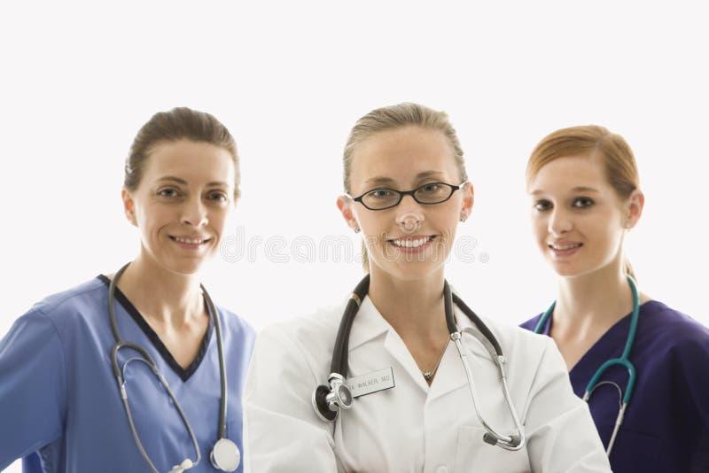 Sorridere degli operai di sanità fotografia stock libera da diritti