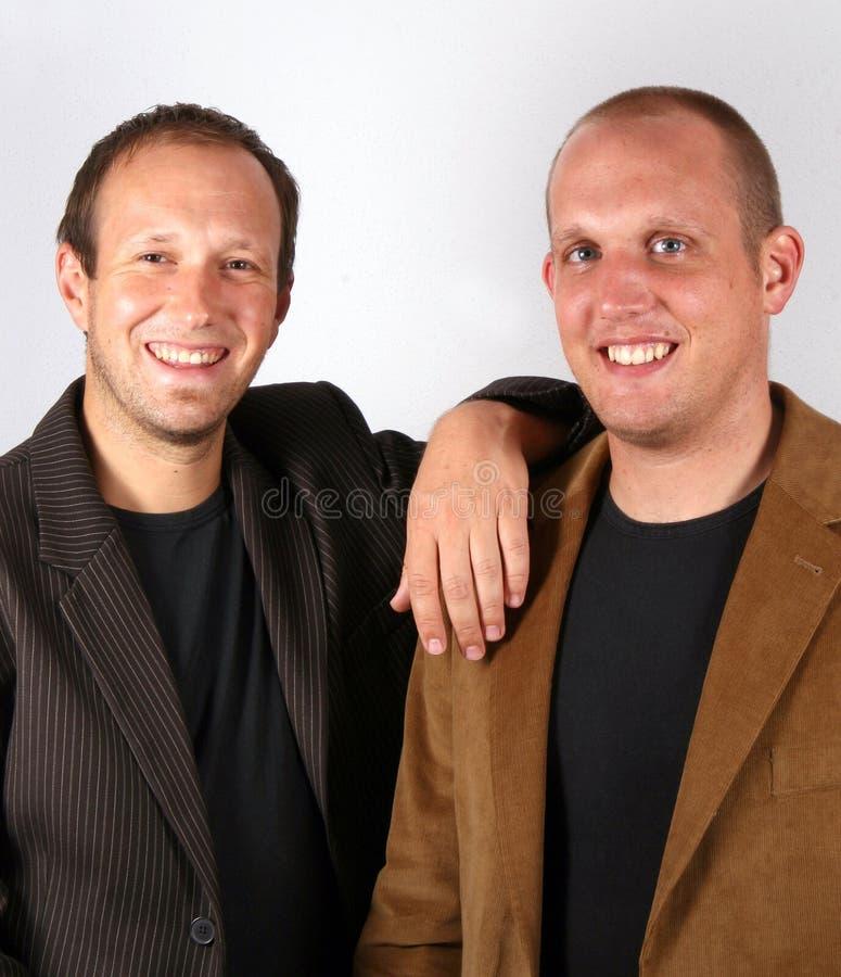 Sorridere degli uomini d'affari fotografia stock libera da diritti