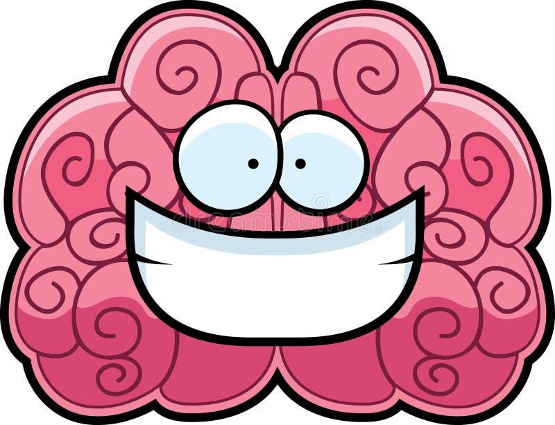 Sorridere del cervello illustrazione vettoriale