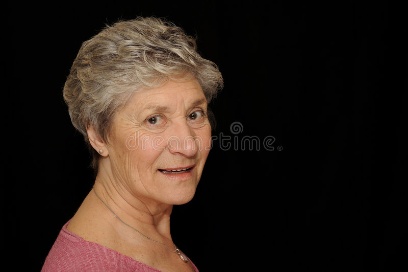 Sorridere dell'anziana  fotografia stock