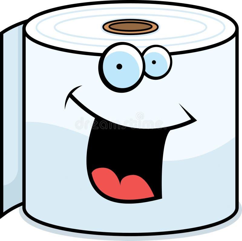 Sorridere della carta igienica illustrazione vettoriale