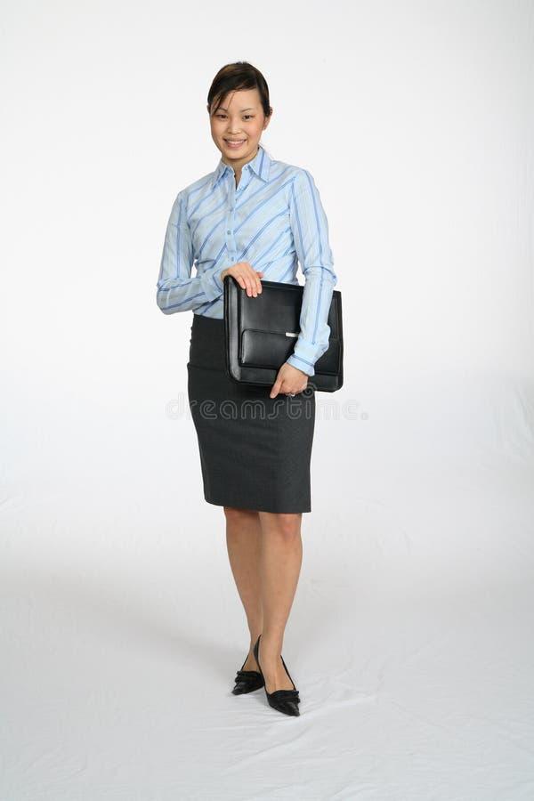 Sorridere della donna di affari di Asain immagine stock libera da diritti