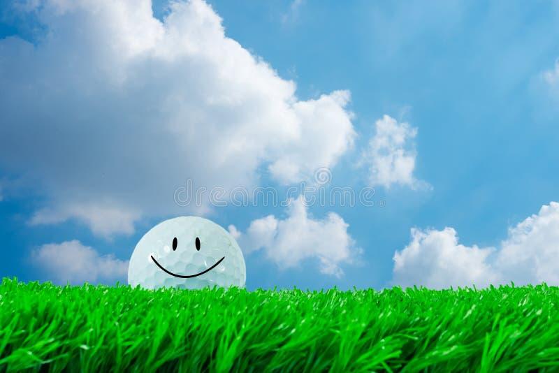 Sorridere della palla da golf immagini stock libere da diritti