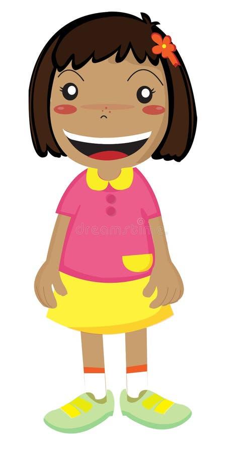 Download Sorridere della ragazza illustrazione di stock. Illustrazione di felice - 7302323