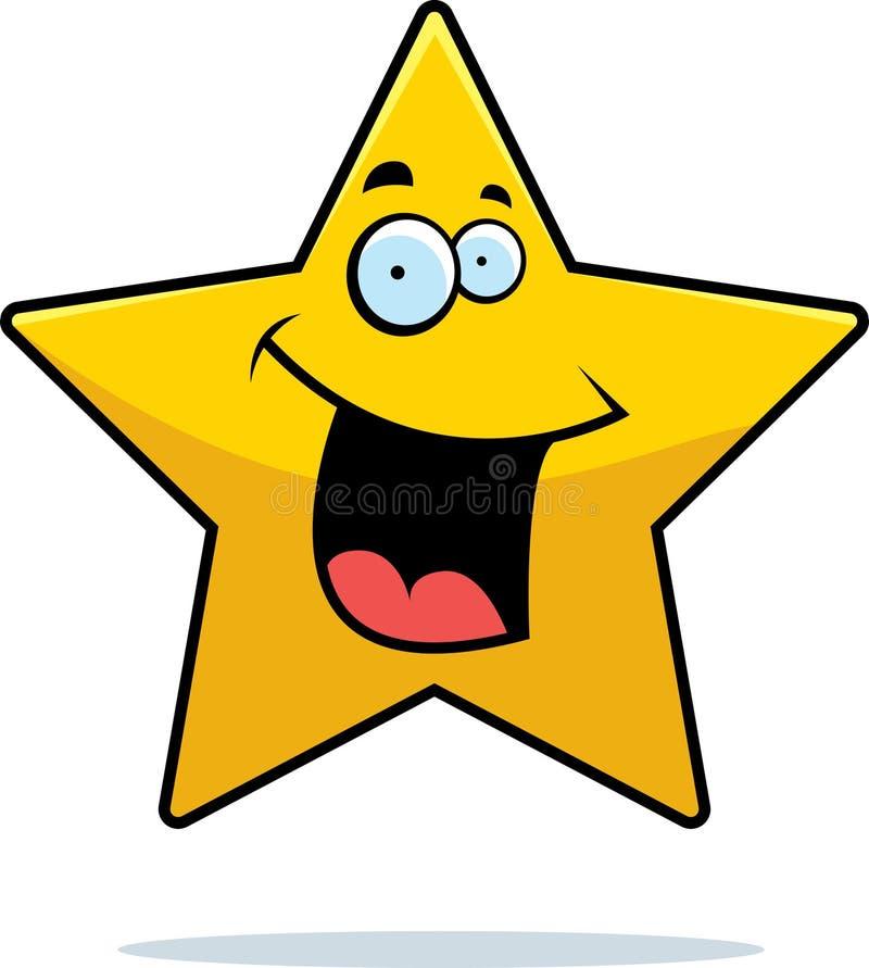 Sorridere della stella illustrazione di stock