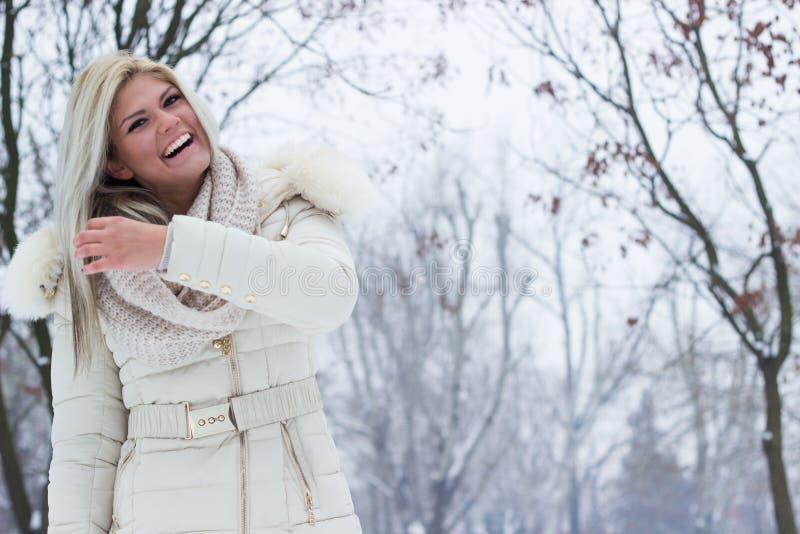 Sorridere di bellezza di inverno immagini stock